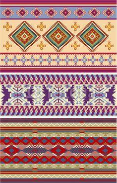 Vector: Native American vector patterns