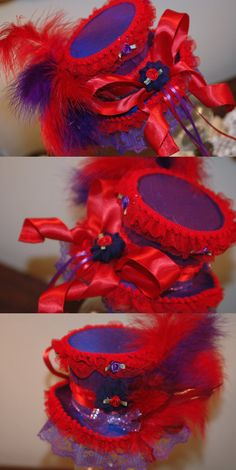 Red Hat Society Commission by NoFlutter on DeviantArt Red Hat Club, Birthday Presents For Her, Red Hat Ladies, Hat Decoration, Wearing Purple, Red Hat Society, Hat Crafts, Girls Time, Pink Hat