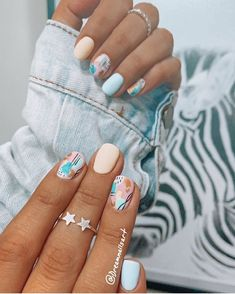 Simple Acrylic Nails, Summer Acrylic Nails, Best Acrylic Nails, Simple Nails, Cute Gel Nails, Soft Nails, Stylish Nails, Trendy Nails, Acylic Nails