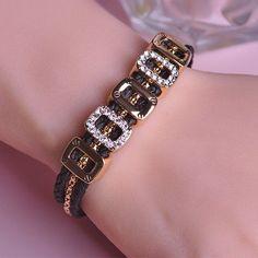 Fashion Style Rope Bracelets 18K Gold Plated Alphabet O Bangle Double Safety Clasp Bracelet Love Bracelete Pulseira Fine Jewelry  #jewelrysets #designerdivajewelry #rings #jewelry #earrings #pendants #jewellery #weddingbands #weddingjewelry #chain