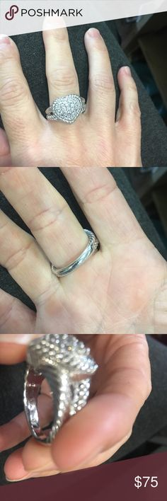Judith Ripka Sterling silver and cz ring Great condition size 9 Judith ripka ring judith ripka Jewelry Rings