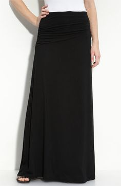 Bobeau Asymmetric Knit Maxi Skirt