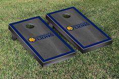 Texas A&M Commerce Lions Gray Onyx w/ Border Stripe Cornhole Set