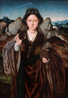 Master of the Magdalena Mansi, Saint Mary Magdalene, 1525 Renaissance Artworks, Renaissance Kunst, Santa Maria Magdalena, Art History Timeline, Catherine Of Aragon, Muse Art, Mary Magdalene, Albrecht Durer, Old Paintings