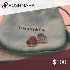 Return to Tiffany and Co. small studs. Small size, Return to Tiffany and Co. silver stud earrings. Worn 4 times. Comes with original pouch and box. Tiffany & Co. Jewelry Earrings