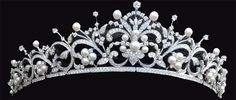 This is Princess Takamado's Tiara. She was born Hisako Tottori, the daughter of an industrialist. Raised in England, where her father worked, she graduated from Cambridge University with degrees in anthropology and archaeology. After graduation, she went back to Japan and met Prince Norihito (the emperor's cousin) at a party hosted by the Canadian Embassy.   See a new tiara every Tuesday on http://JenniWiltz.com/blog. #tiaratuesday
