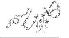 Caligrama. Aire, mariposa y flores