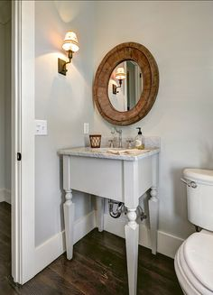 Walls & Vanity both Gray Owl Benjamin Moore