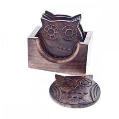 Sass & Belle Set of Six Wooden Owl Coasters £9.65