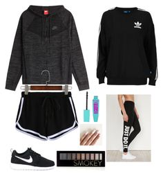"""""""My boyfriend goes to another school look"""" by emmaraej on Polyvore featuring NIKE, adidas Originals and Forever 21"""