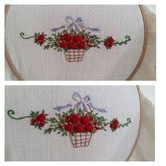 작은자수  #embroidery #프랑스자수 #꽃바구니자수