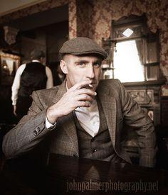 #peakyblinders #tweed #flatcap #pub #beer #waistcoat #birmingham #rollup #cigarette #vintage #deadmanssuit