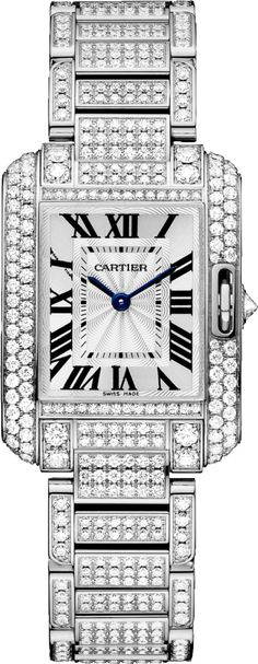 #Cartier Tank #Anglaise White Gold #Watch