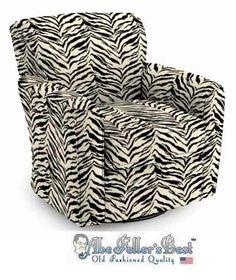 Zebra Print Swivel Barrel Chair