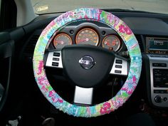 Um yeah, I need this. Lilly Pulitzer Steering Wheel Cover