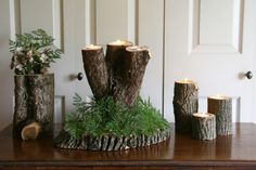 Reclaimed Wood Tree Branch Candle Holder- Wedding Center Piece – Rustic Cabin Decor – - New Site Rustic Candle Holders, Candle Holders Wedding, Rama Seca, Branch Centerpieces, Wedding Centerpieces, Branch Decor, Rustic Cabin Decor, Flower Branch, Wood Tree