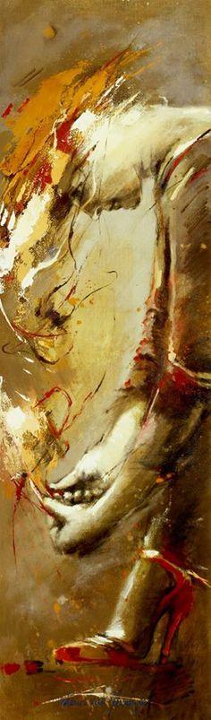 Marion van Nieuwpoort (Dutch artist) 1950 - 2008 - Bare Footed, High Heels-4, 2006