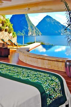 What We Love: a private infinity pool just steps from bed and views of the iconic Piton. Vacation Places, Dream Vacations, Vacation Spots, Places To Travel, Travel Destinations, Places To Go, Travel Tips, St Lucia Honeymoon, St Lucia Weddings