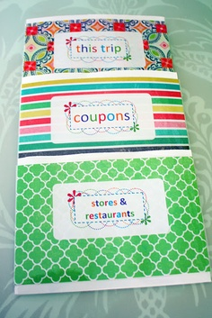 One way to organize coupons