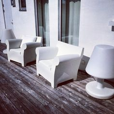 White | Bubble Club by Philippe Starck | thanks to @travelpictures22 via Instagram