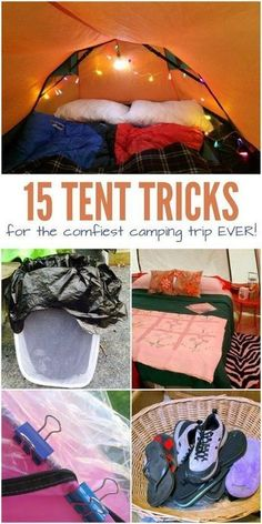 Camping is a blast – friends, family, yummy campfire food and fun camping games. The one thing I don't love? Sleeping in a tent. When bedtime comes, I can barely sleep because I'm so uncomfortable. So, I've been looking for ways to make our camping trips a little more comfy, and I've definitely found some great ideas with these tent hacks. #campinghackstent