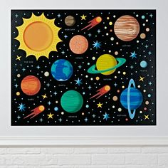 Shop Planets Wall Decal.  We think this outer space decal should be boldly hung where no decal has been hung before.  Although, that may be a little overly ambitious, so why not just hang it on a wall where everybody can enjoy it?.