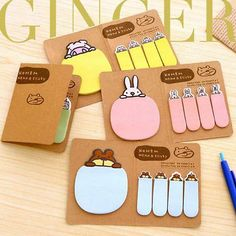 4 Style Animals Sticker Post-It Bookmark Memo Flags Sticky Notes Stationery
