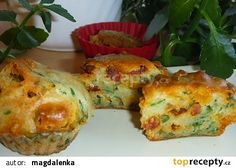 Medvědí muffiny s klobásou recept - TopRecepty.cz Quiche, Sushi, Treats, Breakfast, Ethnic Recipes, Food, Sweet Like Candy, Morning Coffee, Goodies