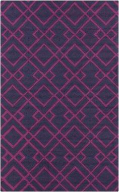 Surya BNT-7705 Brentwood Hand Woven Polyester Rug Pink 8 x 10 Home Decor Rugs Rugs