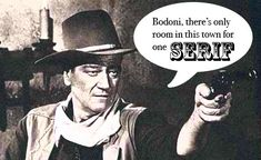 I reallly like this one because I grew up watching a lot of John Wayne and I'm a huge fan of him.  I also really like the play on the words. john_wayne.jpg