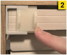 Slide on Curtain Rod Brackets for mini blinds hold single curtain rod and double curtain rod, no tools.