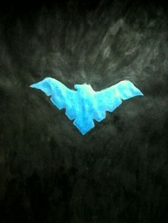 Nightwing symbol painting by Miranda ❤