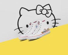 Hello Kitty y Converse tienen la colaboración más cute.