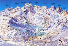 Saas Fee piste map and ski area map. Details of all the runs and lifts in Saas Fee, Switzerland from Iglu Ski Ski Switzerland, Saas Fee, Area Map, Ski And Snowboard, Ski Ski, Snow Skiing, Swiss Alps, Winter Wonder, France