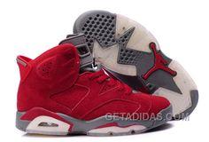 reputable site 2d85d 5a140 Air Jordan 6 Suede Leather Red Vente En Ligne, Price   72.00 - Adidas Shoes,Adidas  Nmd,Superstar,Originals