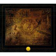 Fanatics Authentic Greg McElroy, Mark Ingram,Darius Hanks Alabama Crimson Tide Autographed 19'' x 22'' Script Letter A Lithograph