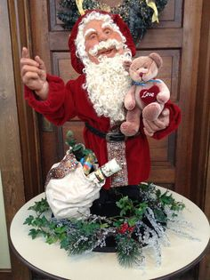 Realistic Santa Clause Dressed Sculpture Sculpted with