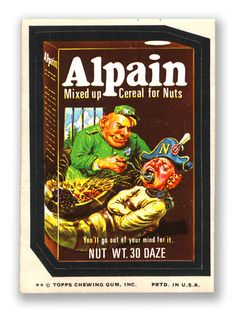 Topps Wacky Packages  11th Series 1974 ALPAIN