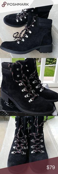 6b2996787777c NWT Sam Edelman Darrah suede   wool boots NEW Sam Edelman Darrah boots size  A black suede lace-up