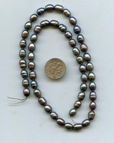 """15/"""" Fresh Water Pearl Side Drilled 7-8mm Peacock Beads"""