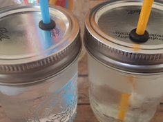 Mason jar turned spill-proof cup