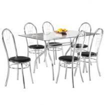 Conjunto de Mesa com 6 Cadeiras Madri - Design Final