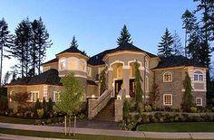 Plan W23200JD: Photo Gallery, Luxury, European, Premium Collection, Northwest House Plans & Home Designs