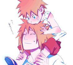 Fan Art of Minato & Naruto ^_^ for fans of Minato Namikaze 28396193 Naruto And Sasuke, Anime Naruto, Naruto Cute, Naruto Shippuden Anime, Itachi, Sasunaru, Minato Kushina, Shikamaru, Boruto