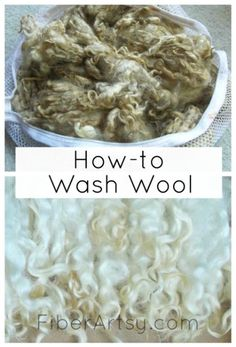 How to wash wool, Fiberartsy.com