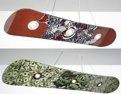 snowboard room light - if I could get/make this in blue/green/grey/yellow/white colors = perfect