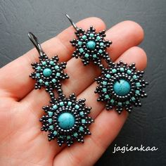 .gorgeous beaded earrings