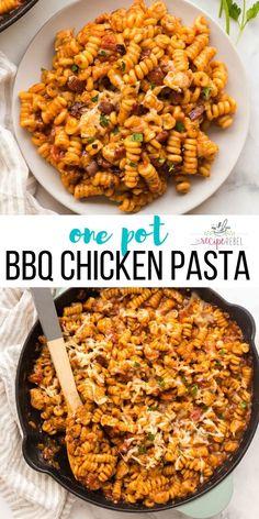 Easy Chicken Dinner Recipes, Chicken Pasta Recipes, Bbq Chicken, Easy Meals, Recipe Chicken, Recipes Dinner, Bbq Dinner Ideas, Chicken Bacon Pasta, Chicken Ideas