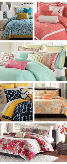 The navy and yellow might make a good guest room set