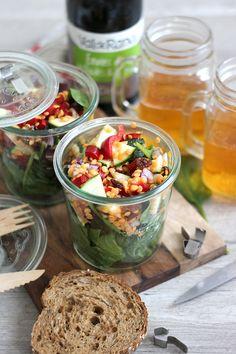 Blog Cuisine & DIY Bordeaux - Bonjour Darling - Anne-Laure: Salade gourmande pour Pique-Nique coloré